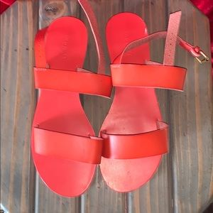 Bright red old navy sandals
